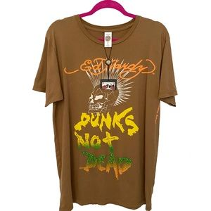 new Ed Hardy ☻︎ Punks Not Dead ☻︎ Barefoot T Dress